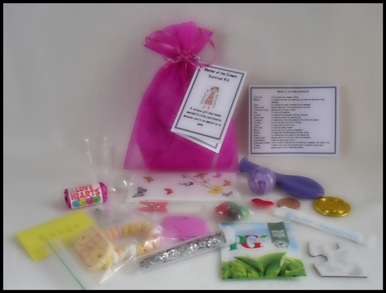 Quirky Wedding Gifts Uk: Mother Of The Groom Novelty Survival Kit. An Unusual Fun