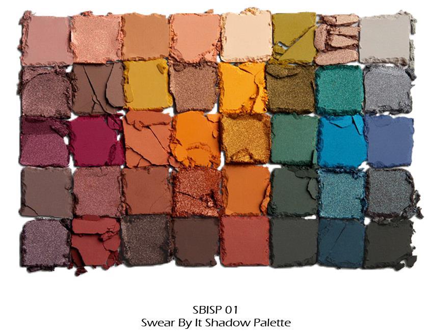 "1 NYX Swear By It Shadow Palette - 40 Colors Eyeshadow ""SBISP01 ..."