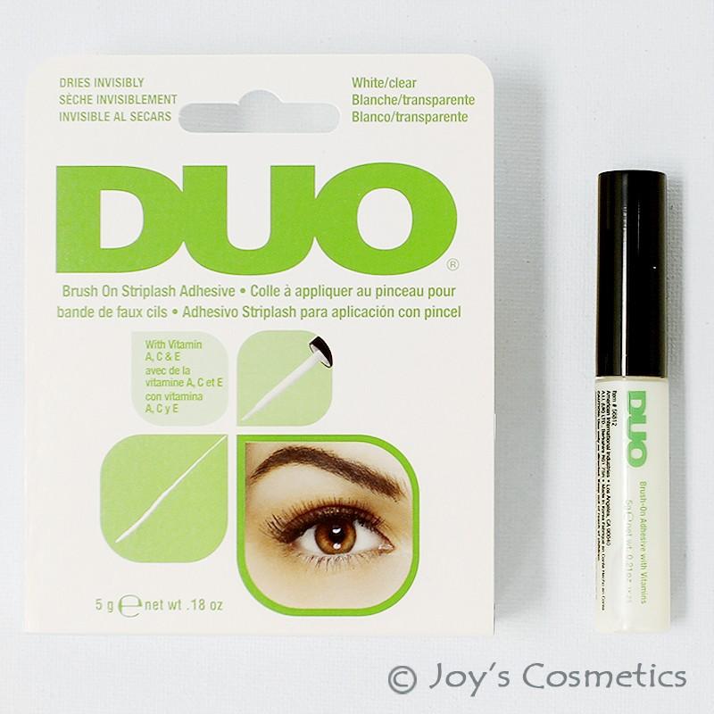 1 Duo Brush On Striplash Adhesive With Vitaminseyelash Glue White