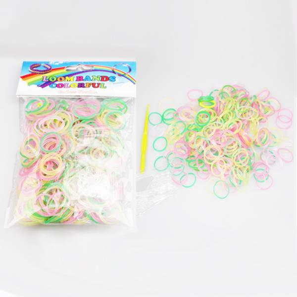 Rainbow Loom Bands Diy Bracelet Necklace Rings Hand Made