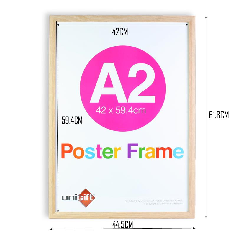 A2 Large Wooden Poster Picture Photo Certificate White
