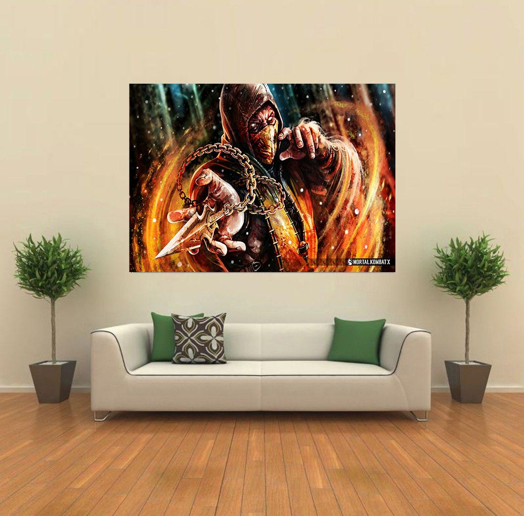 scorpion mortal kombat x video game giant wall poster art print k002 ebay. Black Bedroom Furniture Sets. Home Design Ideas