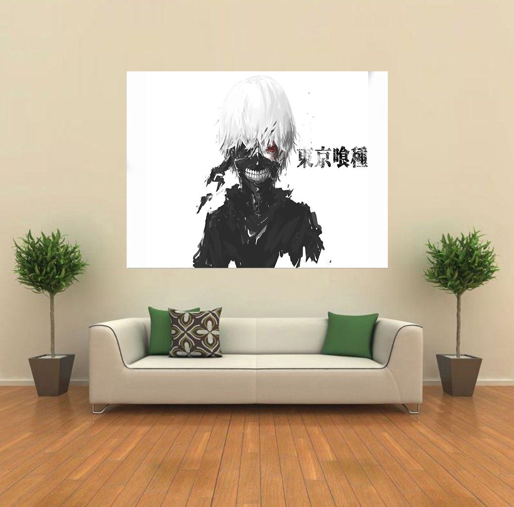 tokyo ghoul kaneki ghoul forme anime manga fanart g ant mural imprim poster k042 ebay. Black Bedroom Furniture Sets. Home Design Ideas