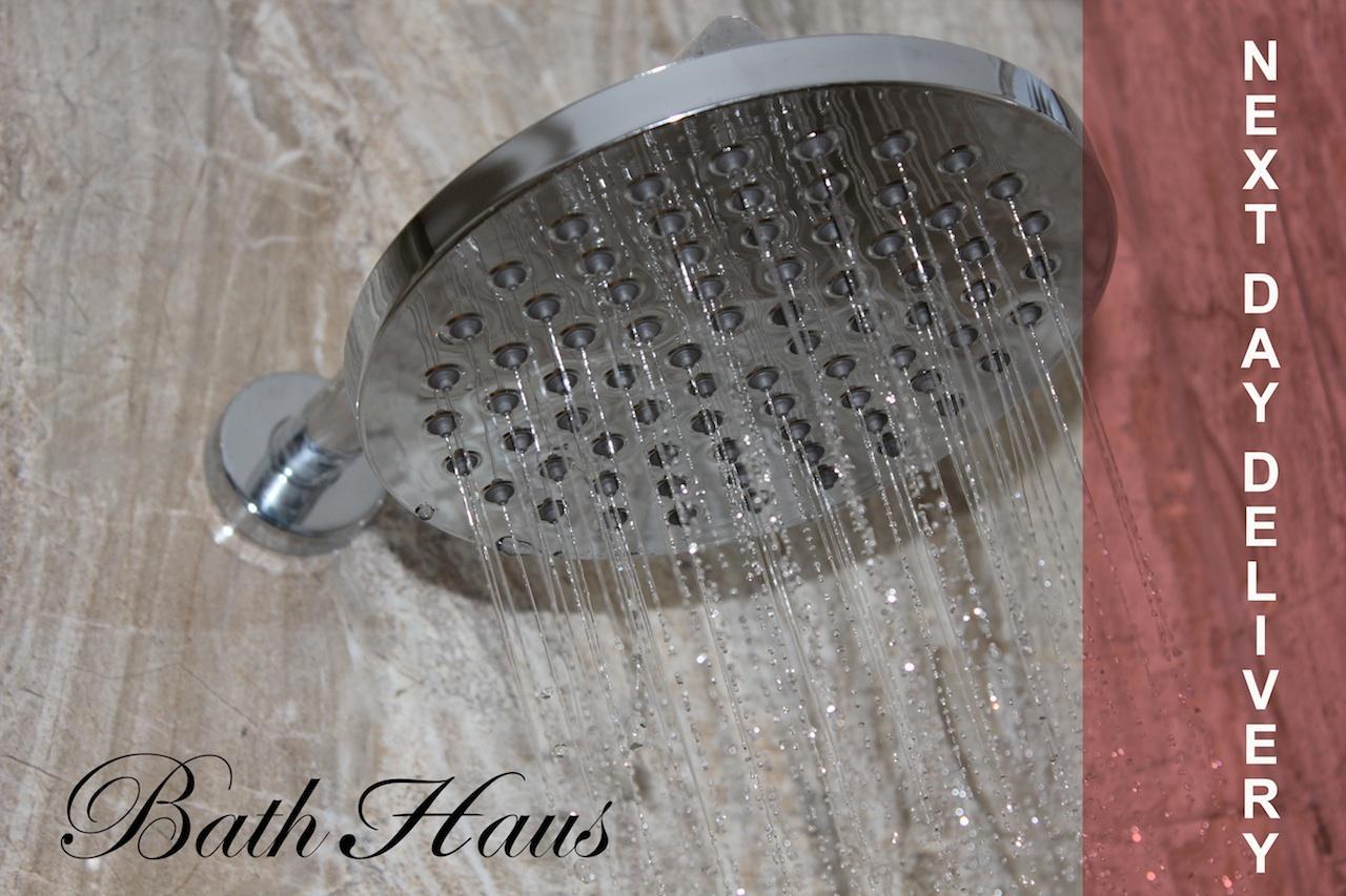 "Large Fixed High Quality 8"" Designer Chrome Rain Shower"