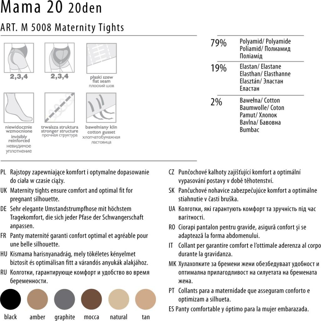fiore mama medica 20 den umstandstrumpfhose. Black Bedroom Furniture Sets. Home Design Ideas