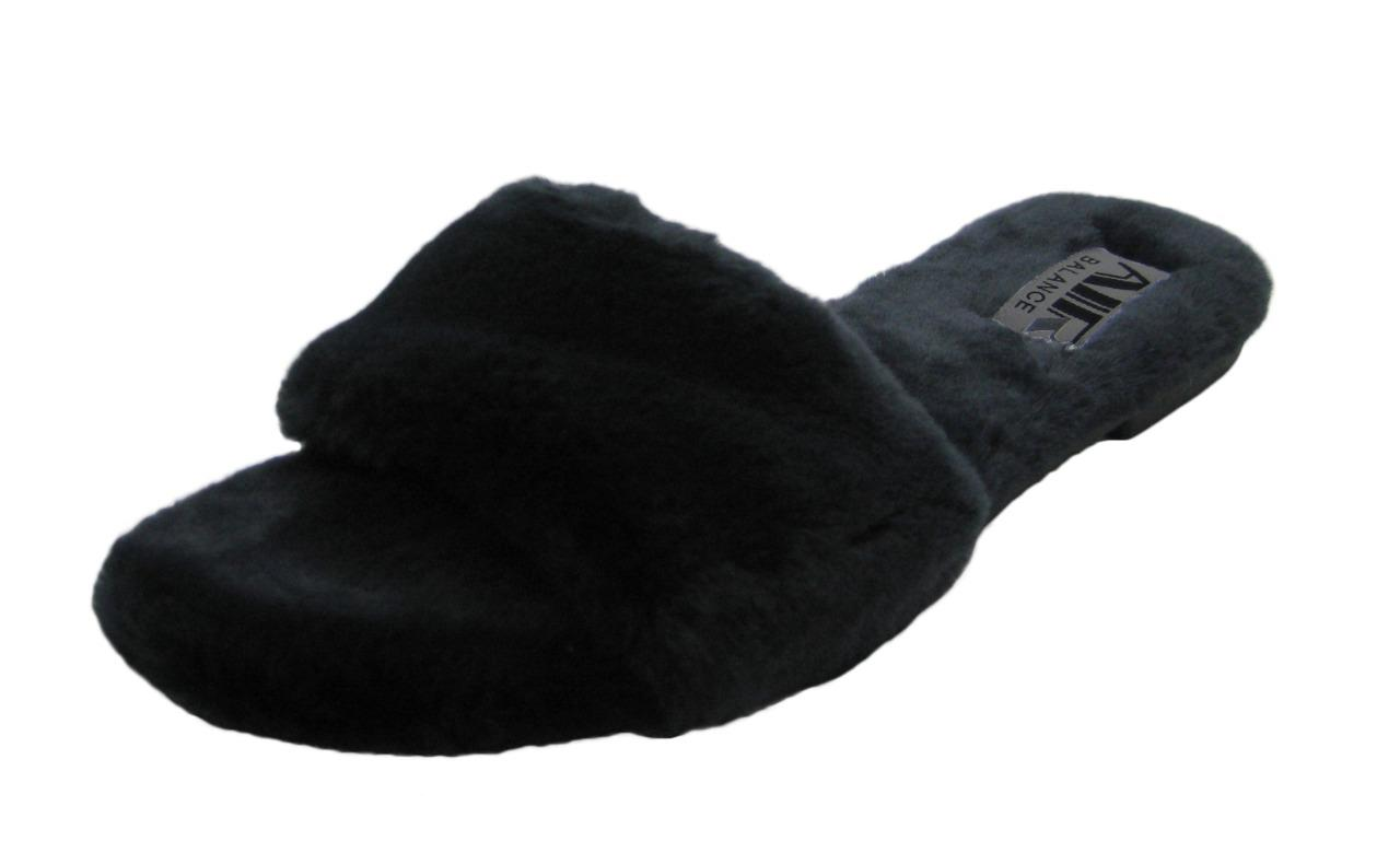 Ladies Furry Ultra Plush Flip Flops Slip On House Home