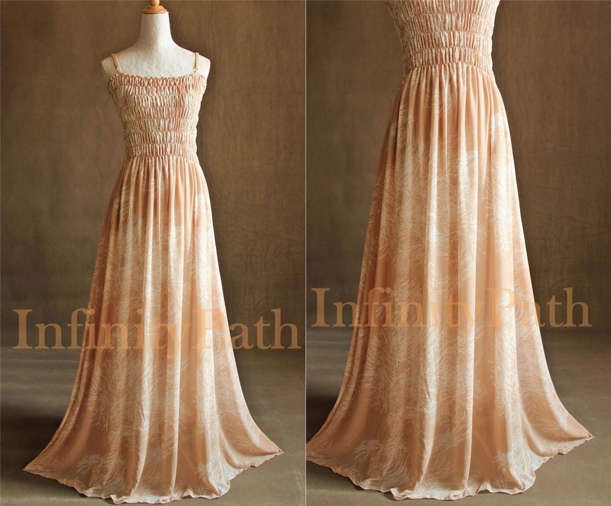 Beige Plus Size Xl 4x Extra Long Woman Maxi Wedding Bride