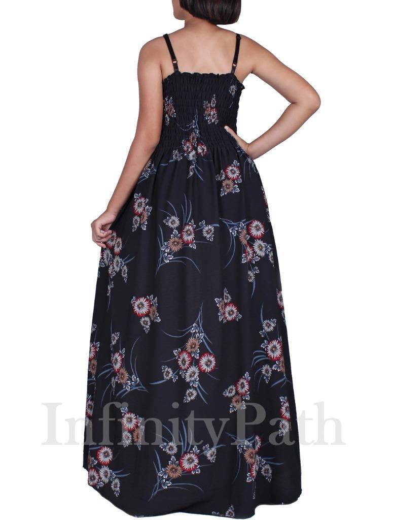 Details about Women Plus Size Black Maxi Dresses Summer Party Long Boho Sun  Floral Lined Dress