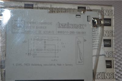 Stahl 9002//11-280-186-001 INTRINSPAK intrinsic safety barrier
