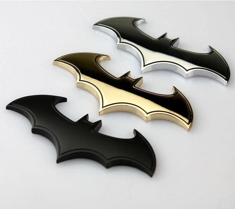 batman 3d chrome metal auto car motorcycle logo sticker. Black Bedroom Furniture Sets. Home Design Ideas