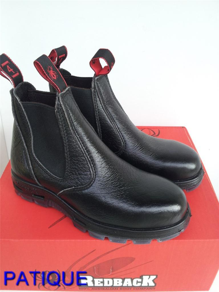 Redback Work Boots USBBL Steel Cap Toe Elastic Sided Made in Australia | eBay