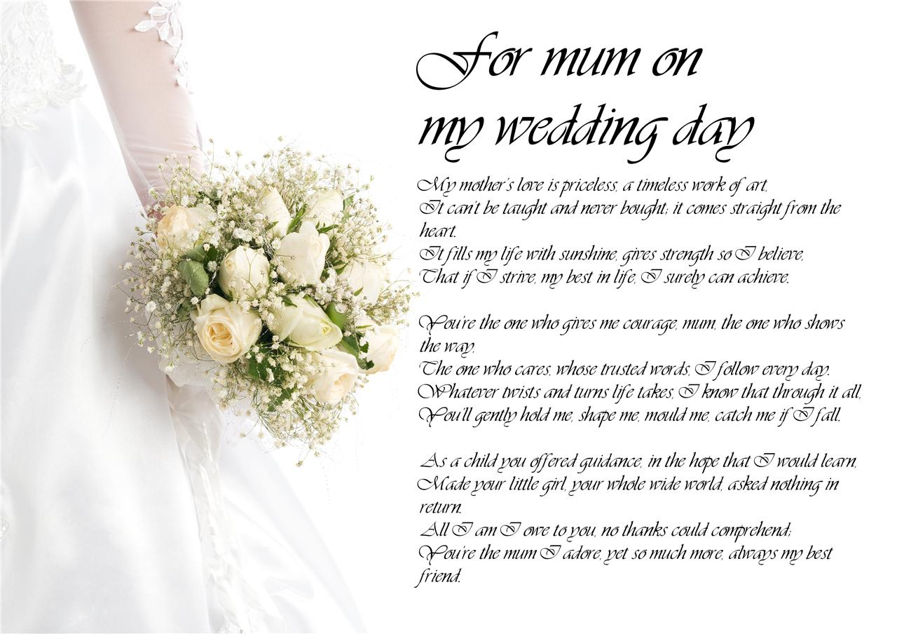 Personalised Poem Poetry For Father Of The Bride Dad Daddy
