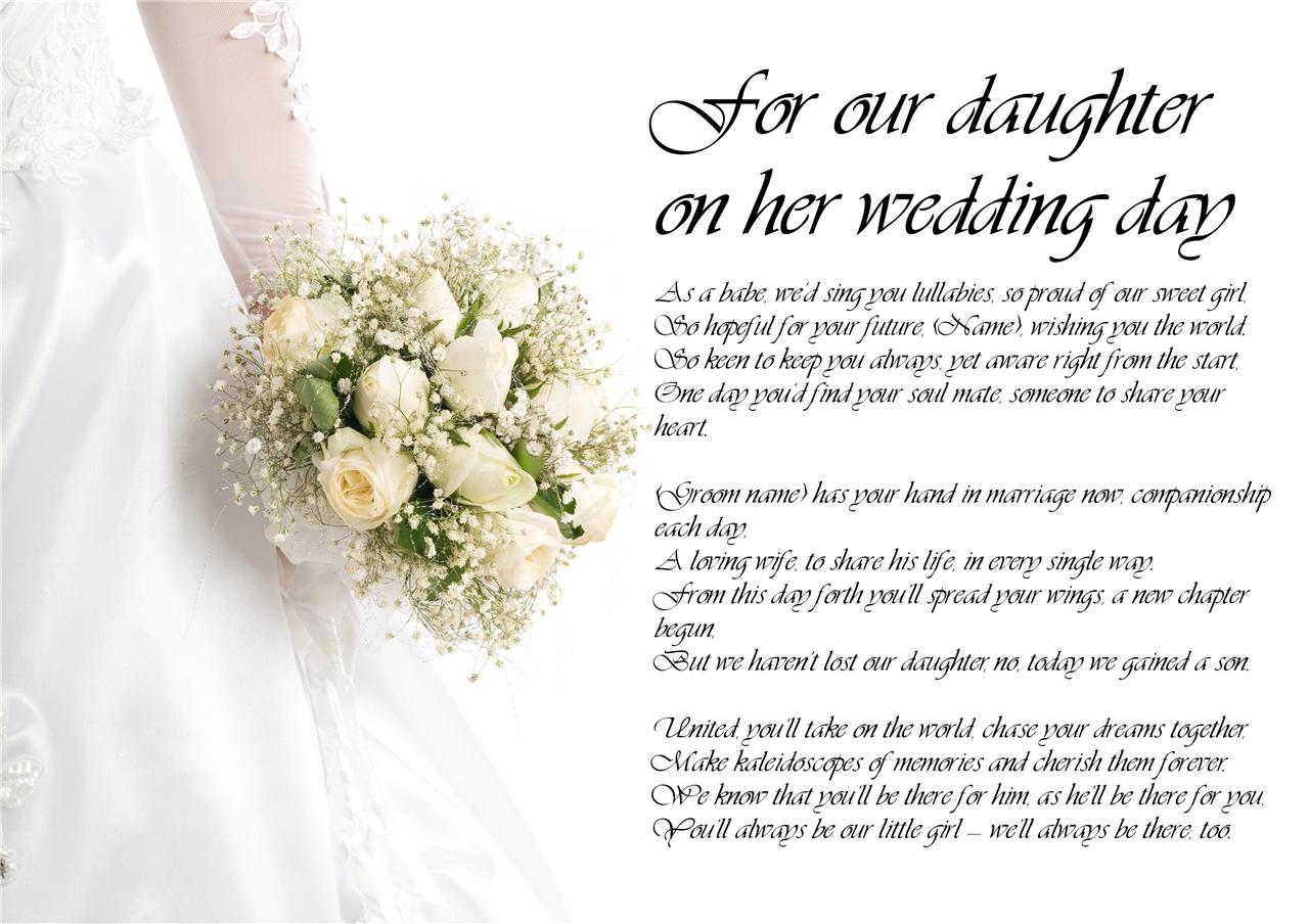 Personalised Poem Poetry For Father Of The Bride Dad Daddy On My Our Wedding Day
