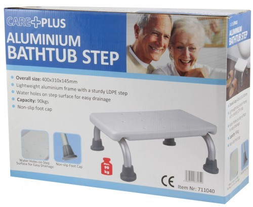Care Plus Aluminium Bath Tub Step Stool Disability Step