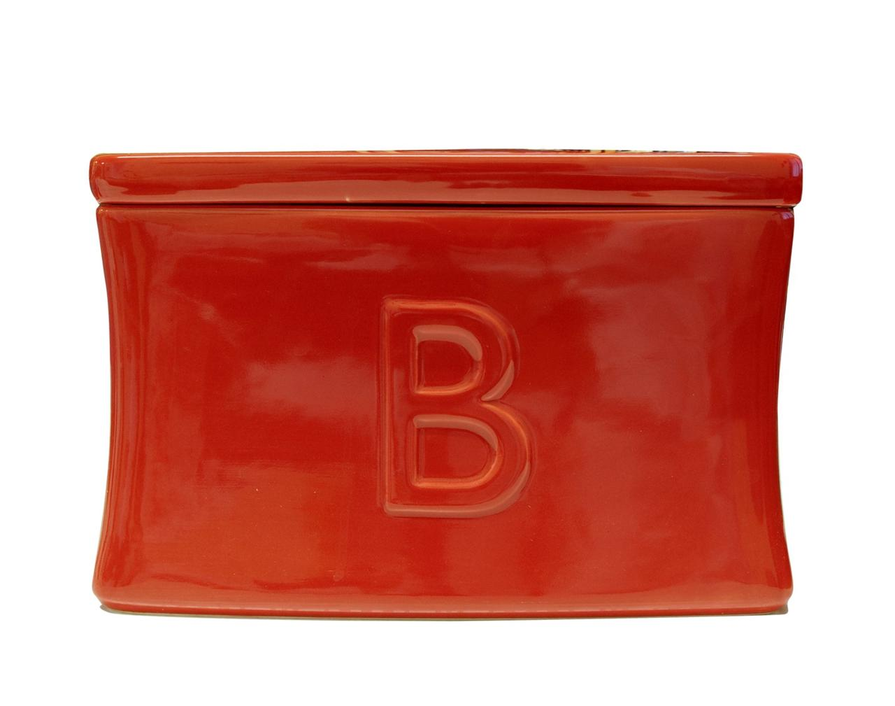 Red Ceramic Bread Bin Home Decorating Ideas Interior Design