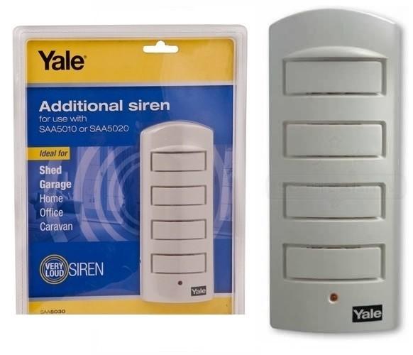 yale saa5030 single room alarm additional siren 130db home. Black Bedroom Furniture Sets. Home Design Ideas