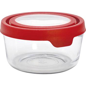 anchor hocking small medium large airtight glass storage containers with lid ebay. Black Bedroom Furniture Sets. Home Design Ideas