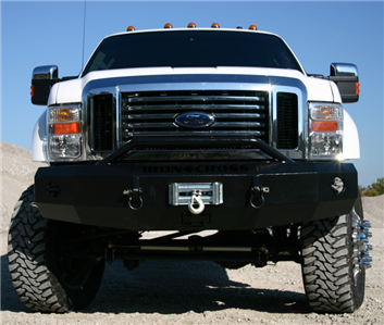 iron cross front bumper w push bar 2008 2010 ford super duty f 250 350 450 usa ebay. Black Bedroom Furniture Sets. Home Design Ideas