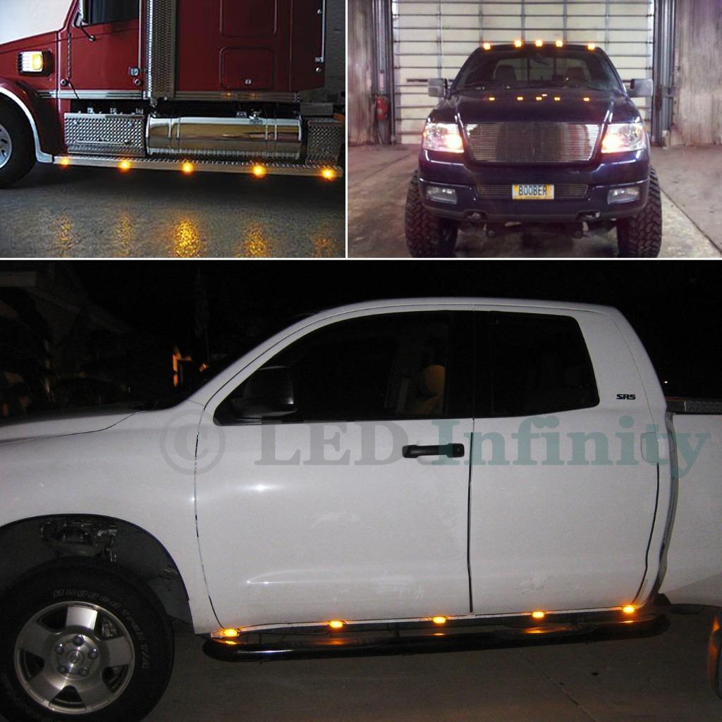 1 X 12V AMBRA ARANCIO LED SIDE MARKER Light spia Van BYS Traler 4X4 SUV