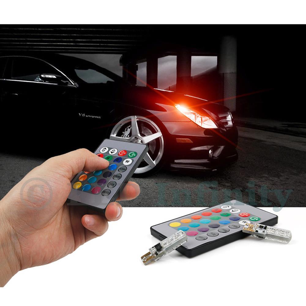 RGB Parking City Light LED Bulbs w//RF Remote Control Fits 2013-2015 Honda Accord