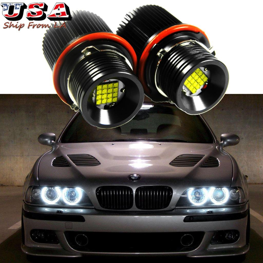 2018 E39 160W Total XBD LED Angel Eyes Halo Ring Light Bulb HID White for BMW US