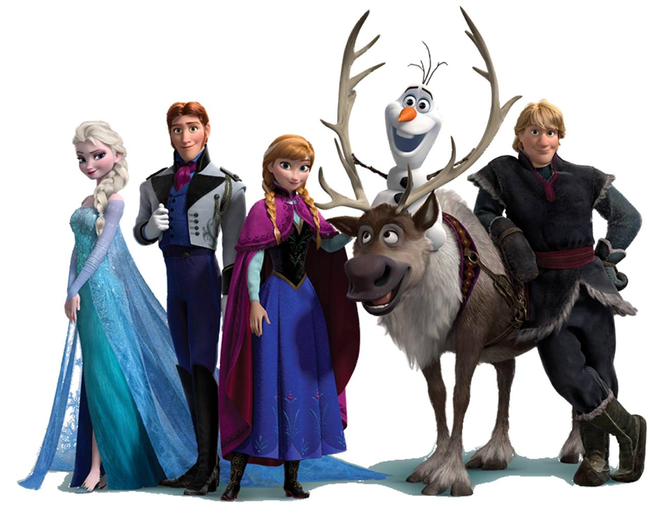 Home Wall Decor Stickers Frozen Elsa Anna Olaf Kristoff Sven Hans Character