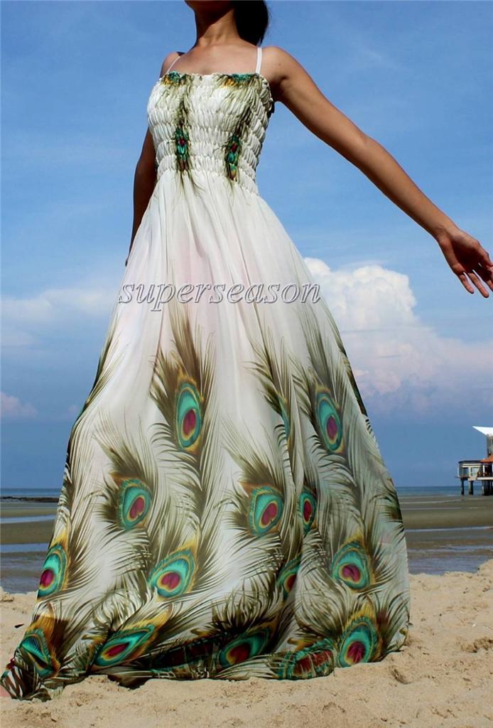 White peacock dress - photo#48