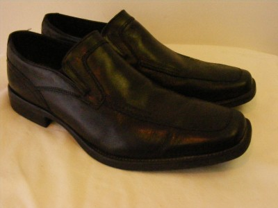 Mens Nxxt Nunn Bush Black Leather Loafers Driving Slip