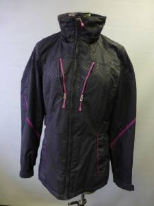 Womens Gray Zx Zeroxposur Zip Up Shell Coat Jacket Clean