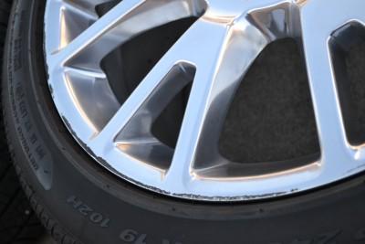 "19"" GM Cadillac cts Polished Staggered Wheels Rims Pirelli Pzero Tires"