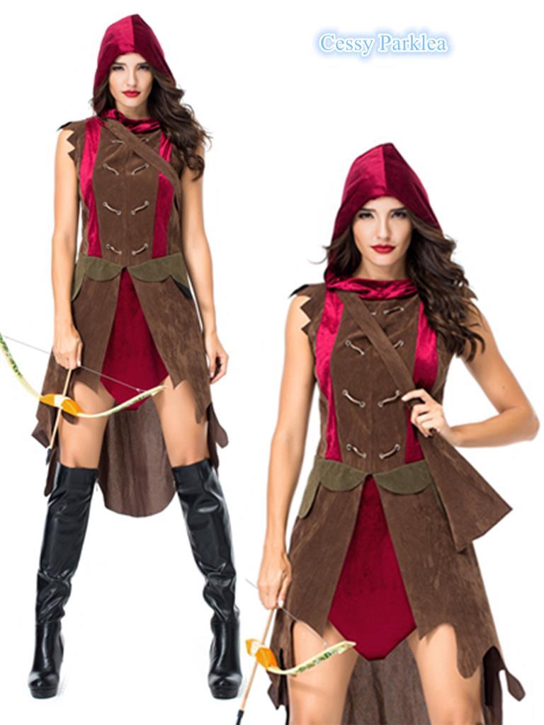 Brand New Valorous Knight Renaissance Women Adult Costume