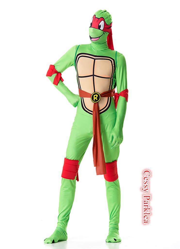 R1 Mens Teenage Mutant Ninja Turtles Costume TMNT Superhero 2nd Skin Suits