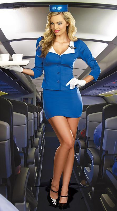 Retro 60s 70s Stewardess Flight Attendant Air Hostess