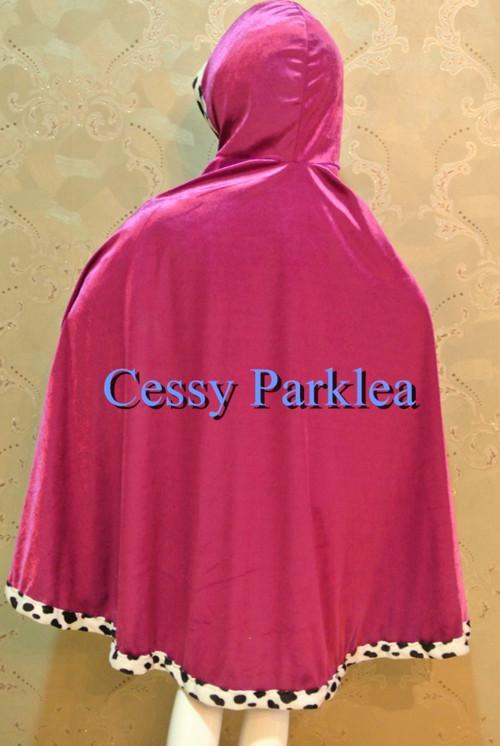 Purple Cape Disney FROZEN Princess Anna Elsa Queen Costume Accessory S M L AU