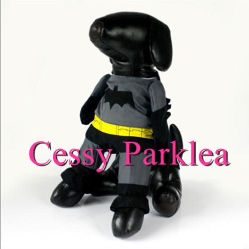 Muscle Batman Pet Dog Puppy Cat Superhero Justice League Costume XS-L