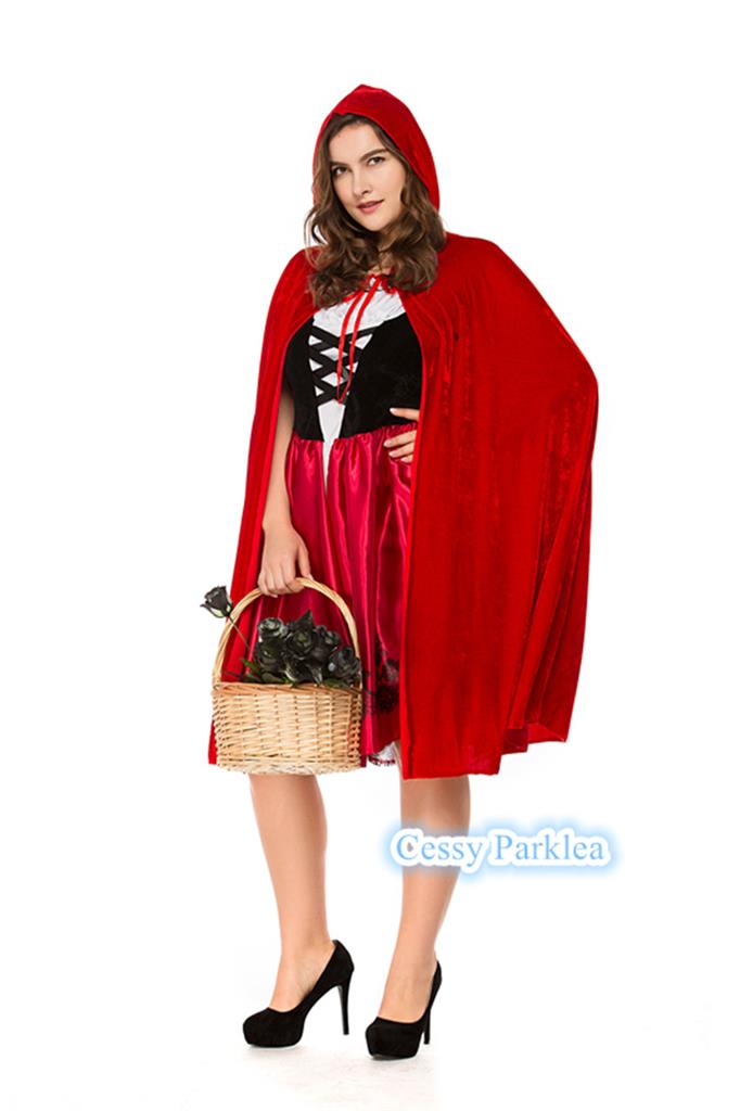 Plus Size Ladies Deluxe Little Red Riding Hood Book Week Fairytale Costume