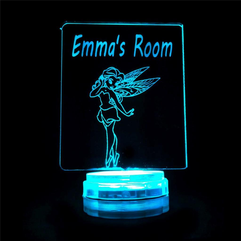 Fairy Princess Personalised Name Night Light Novelty