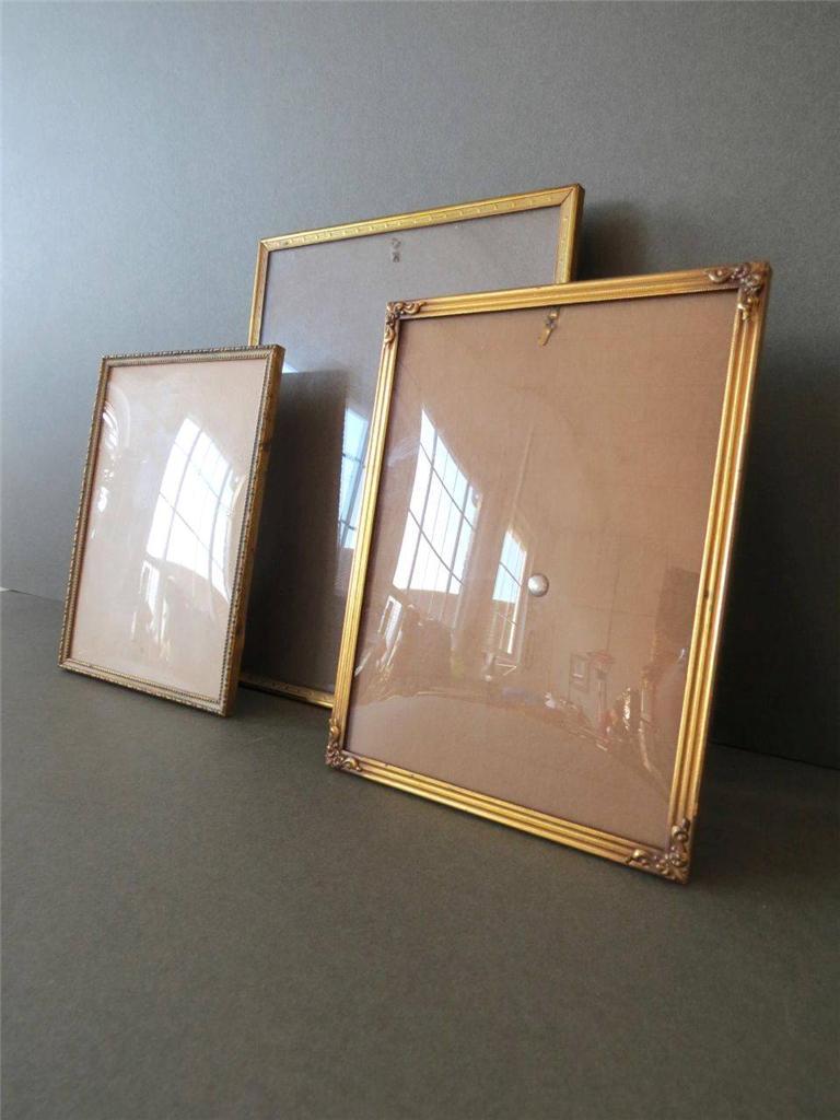 Vintage Danish Brass Art Deco Table Amp Wall Photo Frames