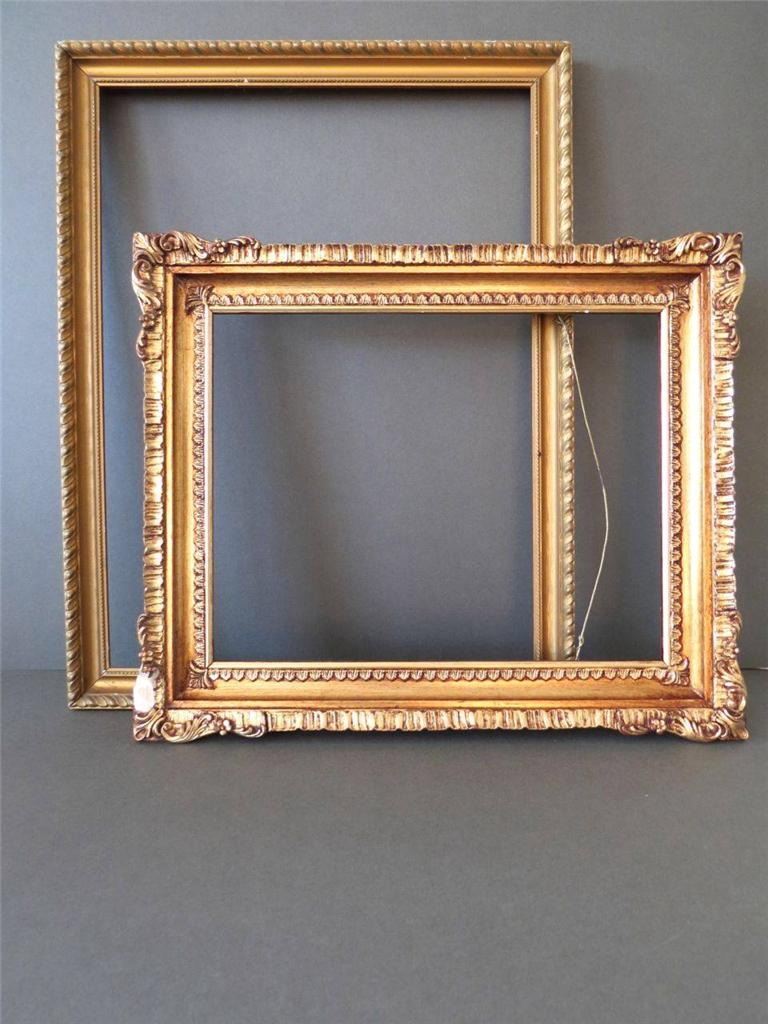 Vintage Gold Ornate Wood Art Deco Wall Photo Frames Or