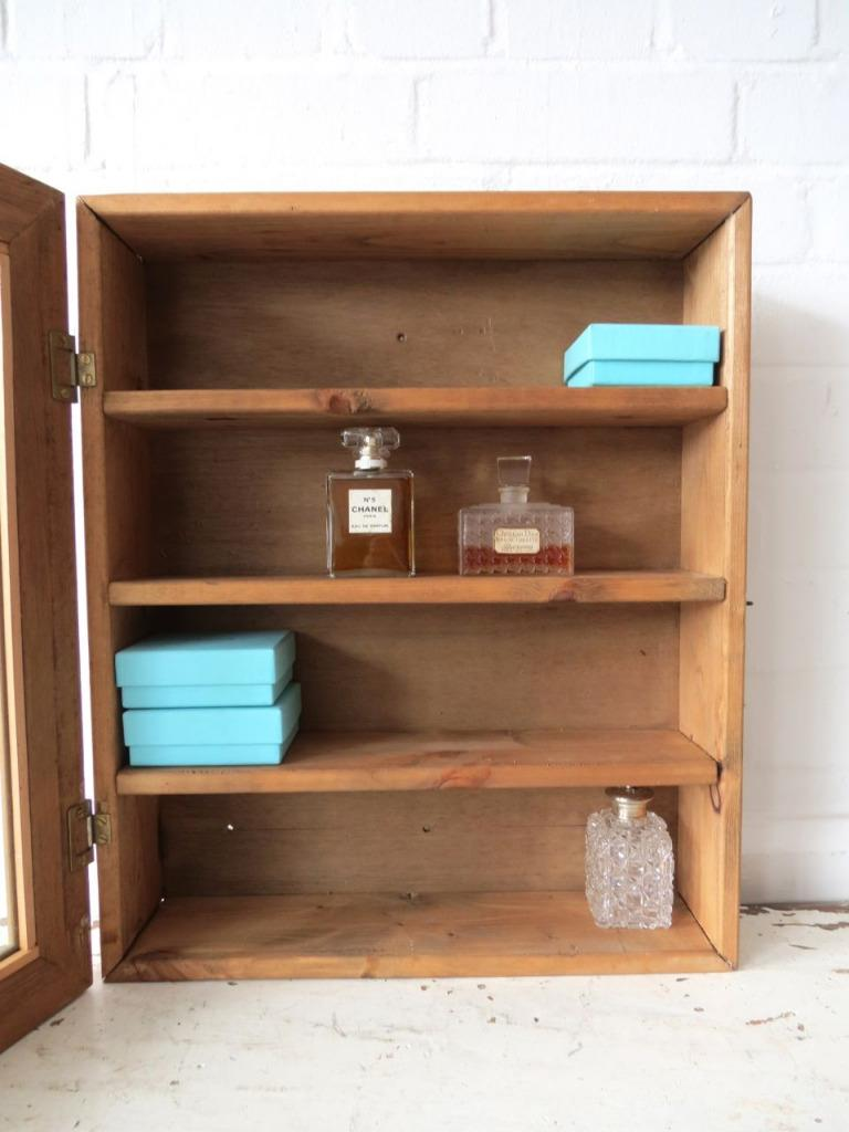 Vintage Bathroom Wall Cabinet Or Glass Display Case