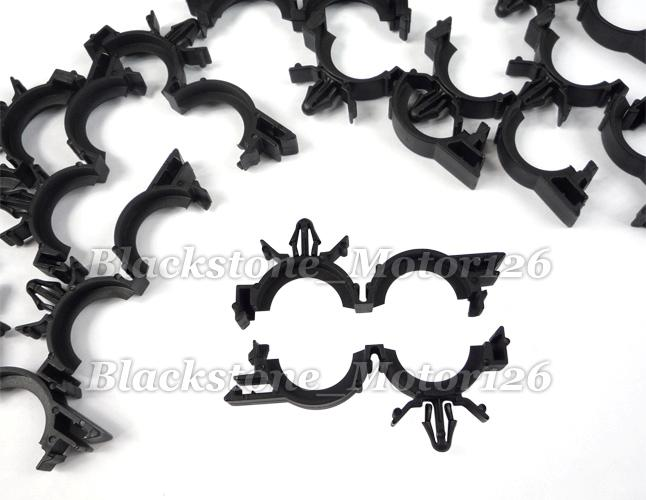 25 pcs wire loom routing clip retainer conduit i d 3 4 o. Black Bedroom Furniture Sets. Home Design Ideas