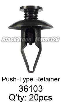 25 Rear Bumper Retainer Rivet Push Type Clip For Lincoln For Ford W710250-S300