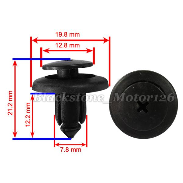 50 Pcs High Quality Mud Guard Clip Nylon Retainer A 19315 BC1D-56-145 For Mazda