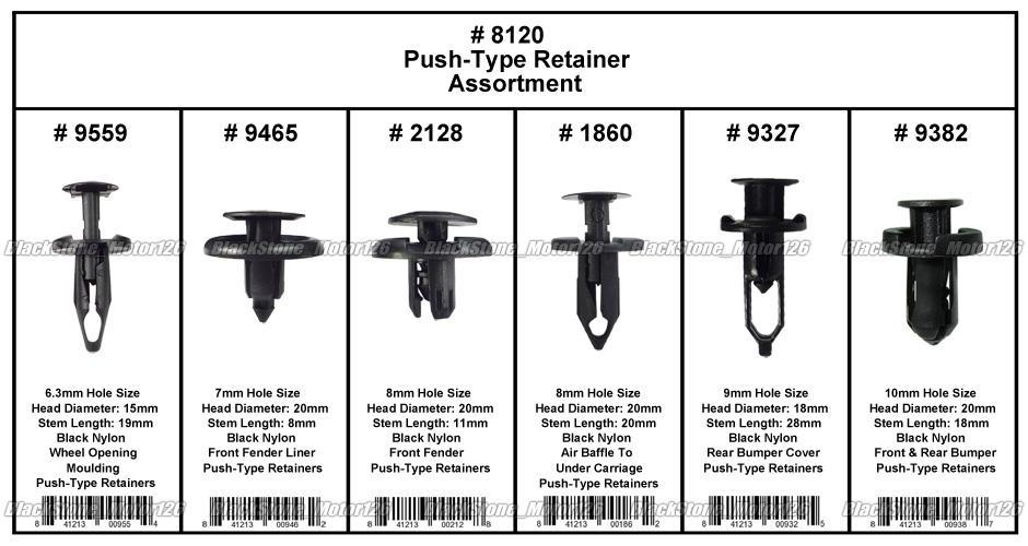 328 Clip Trim Bumper Fender Liner Push Type Retainer Assortment For Toyota Honda