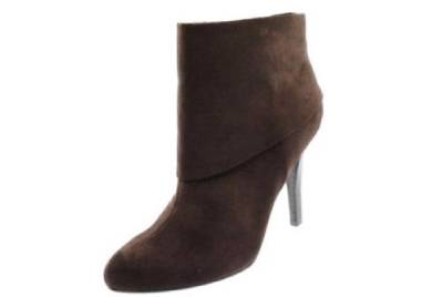 d1c0862c7 MARC FISHER ~ $139 VALLAY BROWN SUEDE CUFFED BOOTIES ANKLE BOOTS SHOES 7 M  NWT