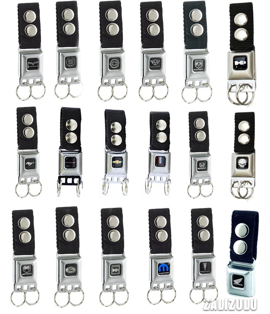 Car Brands Seatbelt Buckle Keychain Multiple Styles Key