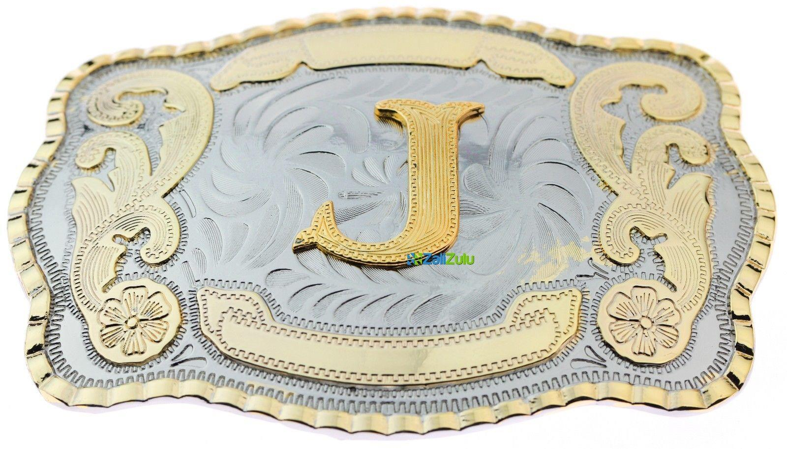 Initial Letter J Western Extra Large Rodeo Cowboy Belt