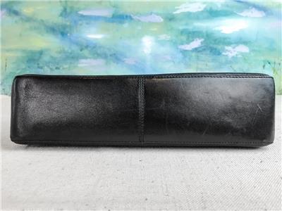 795 SALVATORE FERRAGAMO Black Leather Lucite Chain Strap Flap ... 5f4793effb
