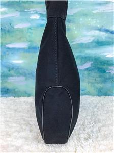 42236d1b86d  850 SALVATORE FERRAGAMO Black Canvas Hobo Shoulder Bag Leather Silver HW  SALE!