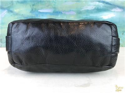 860 MIU MIU Black Textured Leather Double Side Pocket Hobo Shoulder ... 2d93d5e8d041d